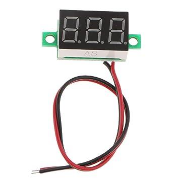 F Fityle DC 4,8-30V Amperemeter Voltmeters mit LED-Anzeige mit 2 ...