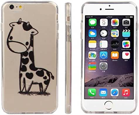 For iPhone6 4.7 Inch, Mchoice Giraffe Print Transparent Soft TPU Gel Cover Soft Case for iPhone6 4.7 Inch