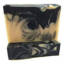 Organic Soap Bar made with Activated Charcoal, Oatmeal, Black Cumin Seed Oil, Rice bran oil, Cocoa and Shea Butters. Essential oils of Eucalyptus, Lavender, Lemon and Juniper. Handmade in USA