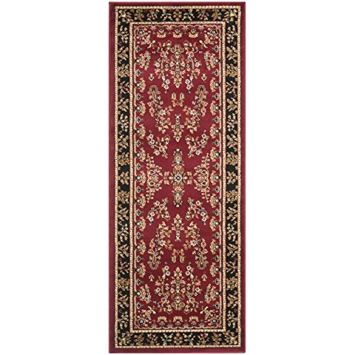 4' Runner (Safavieh Lyndhurst Collection LNH331B Traditional Oriental Red and Black Area Rug (2'3