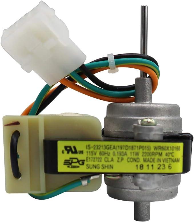 WR60X10168 WR60X10220 Electric Evaporator Condenser Fan Motor Compatible