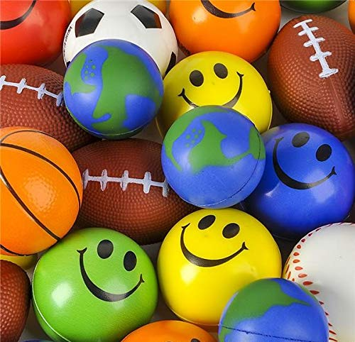 Rhode Island Novelty Stress Ball Toy Assortment | 25 Pieces Per Order