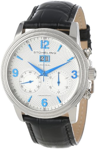 Stuhrling Original Men's 286.33152 Symphony Eternity Mercury Mechanical Chronograph Date Silver Tone Watch