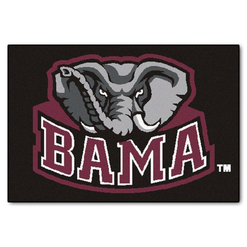Fanmats Ncaa University Of Alabama Crimson Tide Nylon Face Starter Rug