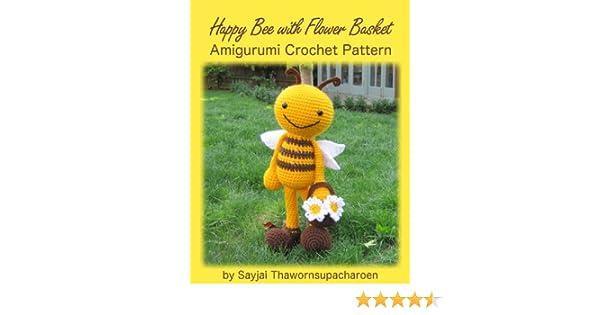 Amazon Happy Bee With Flower Basket Amigurumi Crochet Pattern
