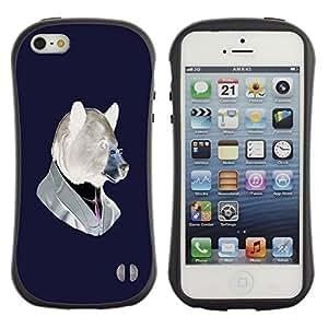 Suave TPU GEL Carcasa Funda Silicona Blando Estuche Caso de protección (para) Apple Iphone 5 / 5S / CECELL Phone case / / Funny Hipster Bear /