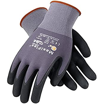 Maxiflex 34 874 Ultimate Nitrile Grip Work Gloves, Small, 3 Piece