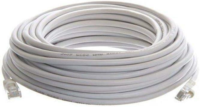 Cat 6 CAT6 Patch Cord Cable 500mhz Ethernet Internet Network LAN RJ45 UTP White 200FT.