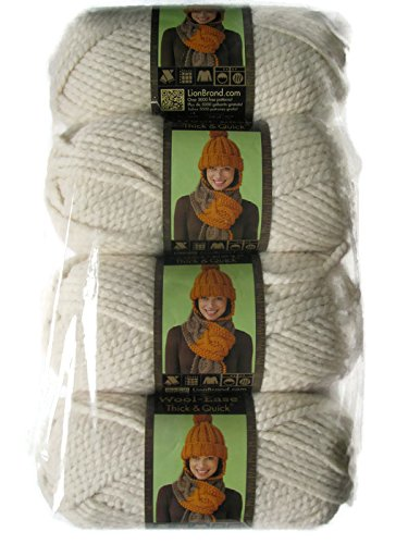 Lion Brand Yarn Wool-Ease Thick and Quick Yarn, (4-Pack), Fisherman 640-099 (Fisherman) by Lion Brand