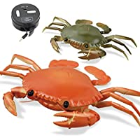 New 1 Pcs Infrared Remote Control Simulation Crab RC Animal Toy 9995 By KTOY