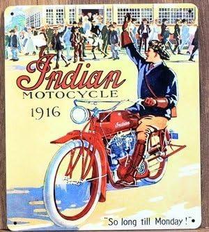 De la India de evolución de 1916 moto bicicleta de diseño vintage ...