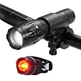 LED Bike lights, Elephant Xu Super Bright Lights,Front and Rear Bike Headlights and Taillight Lamp Group, Waterproof Support, Super Bright 5 Type Waterproof Mountain Cycling Lights 1000 Lumen Light for Mountain Biking,Camping and Daily Use (black)
