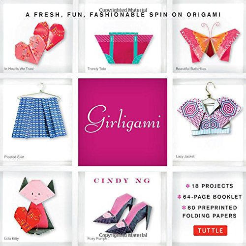 Girligami Kit: A Fresh, Fun, Fashionable Spin on Origami: Origami for Girls Kit with Origami Book, 60 High-Quality Origami Papers: Great for (Things That Start With J For Kids)