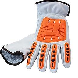 Sportmars Resistant Reducing Anti-Impact Mechanics Heavy Duty Safety Gloves Cut 5 Gloves wih Niterle foam coating CE (Pack of 1 Pair) (X-Large)