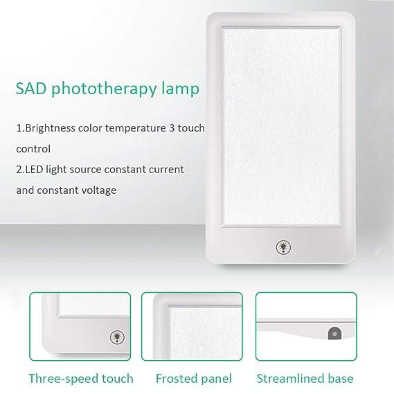 GLXQIJ Lámparas de Phototherapy Triste, Terapia para el desorden afectivo estacional, luz de Tabla del LED, lámpara Emocional de la lámpara del Ojo de la ...