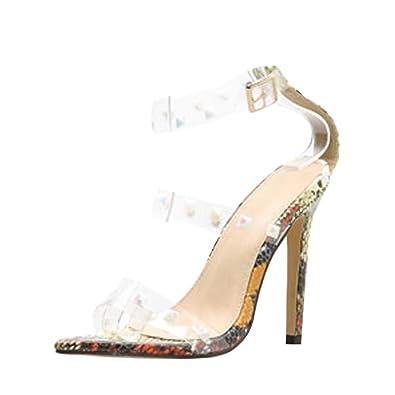 réduction jusqu'à 60% juste prix vraiment à l'aise Chaussure Femme ete Chaussures à Talons Femme Transparent ...