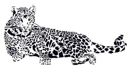 (Huge Cheetah Leopard Jaguar Cat Wall Mural Vinyl Decal)