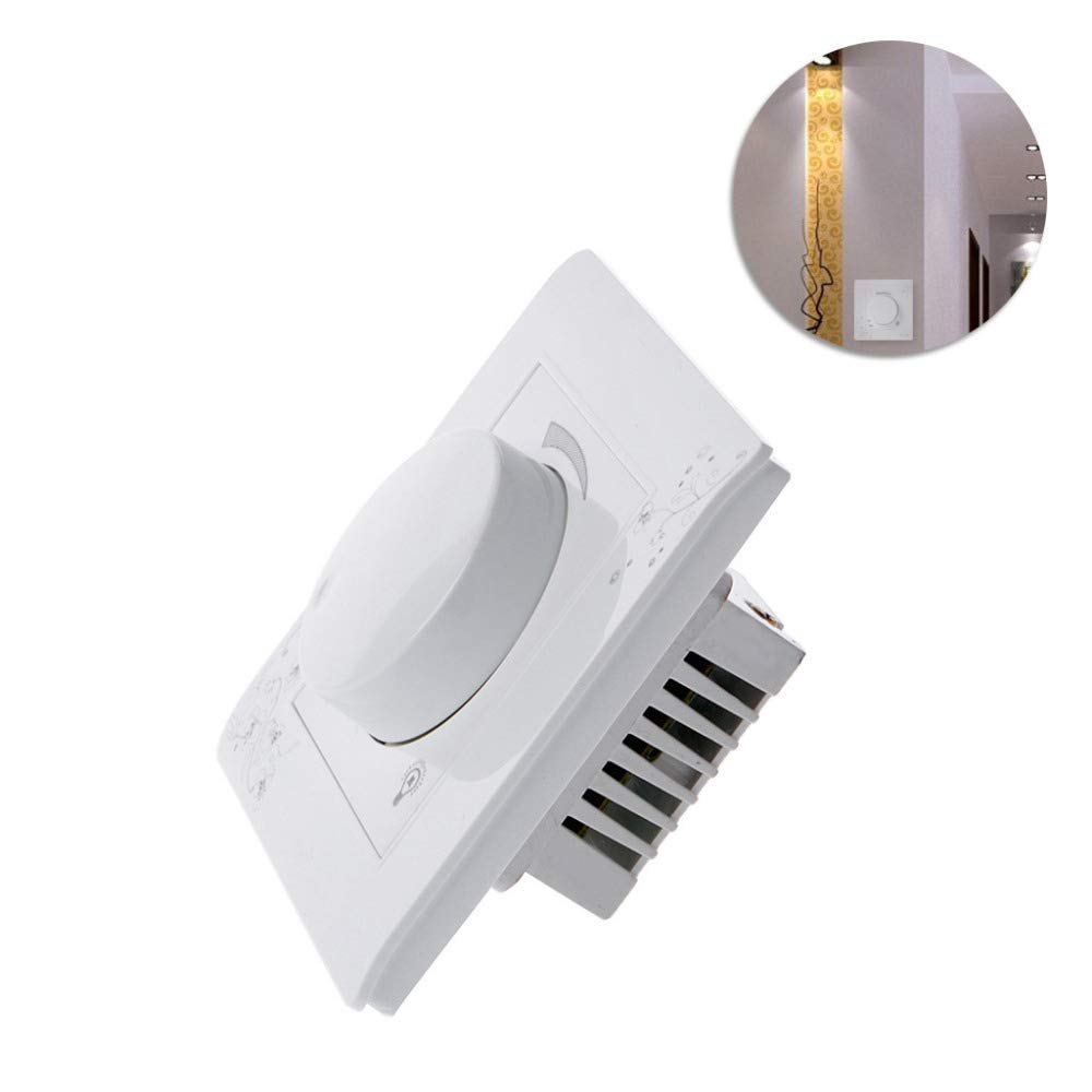 LOCHI Luxury Wall Dimmer Switch Ivory White Brief Art Weave Light Switch AC 110~250V L15 100% NEW