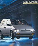 1989 Nissan Axxess XE SE Prestige Sales Brochure