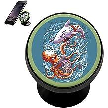 Octopus vs Shark Magnetic Phone Car Mount Holder Universal 360 Rotation Stand Metal Mobile Phone