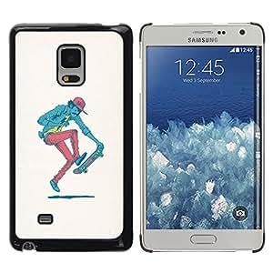 Stuss Case / Funda Carcasa protectora - Hipster Skater - Pop Art - Samsung Galaxy Mega 5.8