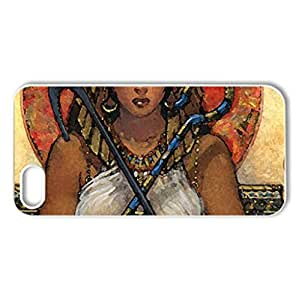 cleopatra - Case Cover for iPhone 5 and 5S (Ancient Series, Watercolor style, White)