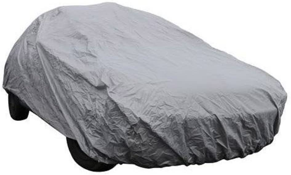 GREY UNIVERSAL WATERPROOF OUTDOOR DUST RAIN SNOW CAR VEHICLE COVER PROTECTOR