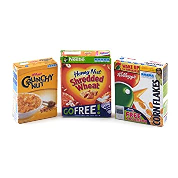 Amazon.es: MyTinyWorld Casa De Muñecas Miniatura Cajas De Cereales Para El Desayuno: Juguetes y juegos