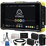 "Atomos Shogun Flame 7"" 4K HDMI/12-SDI Recording Monitor 19PC Bundle. Includes SanDisk 480GB Extreme Pro Solid State Drive + 2 Replacement F970 Batteries + AC/DC Rapid Home & Travel Charger + HDMI Cable + Deluxe Starter Kit + Microfiber Cleaning Cloth"