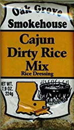 Oak Grove Smokehouse Cajun Dirty Rice Mix (5 Pack of 7.9 Ounce Bags)