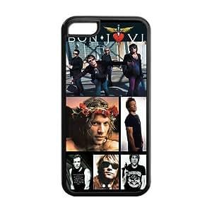 Fashion Custom Design Hard Back Case for iphone 5C(Cheap iphone 5)- American Rock Band Bon Jovi-6 Kimberly Kurzendoerfer