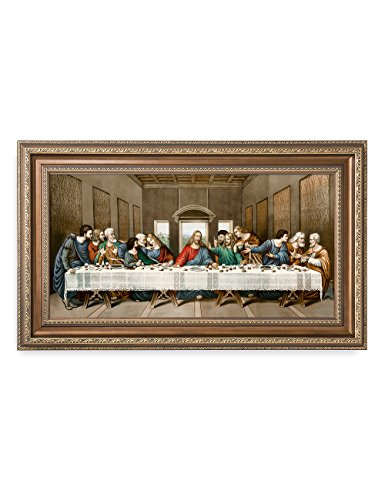 DecorArts -The Last Supper, Leonardo da Vinci Classic Art Reproductions. Giclee Print& Museum Quality Framed Art for Wall Decor. 24x12