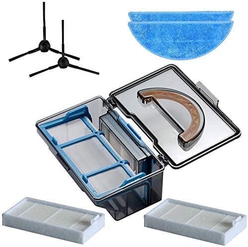 Gaoominy Caja de Polvo Cepillo Lateral Hepa Filtro Mop pa?o para Ilife V5 V50 V55 X5 V5S V3 V3S Pro V5Pro Ilife V5S Pro Robot Aspirador Piezas: Amazon.es: Hogar