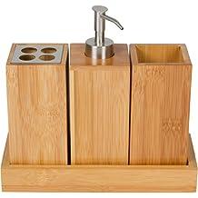 Trademark Innovations Bamboo Bathroom Caddy Bath