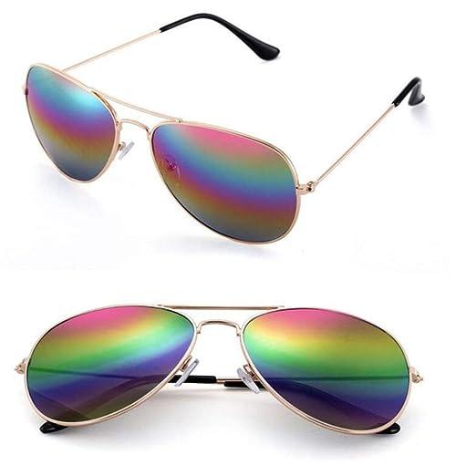 Yangjing-hl Gafas de Sol de aviación clásicas Gafas de Sol ...