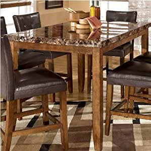 Amazon.com - Lacey Medium Brown RECT Dining Room Counter ...
