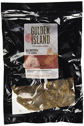 (Golden Island Beef Jerky, Five Spice, All Natural and Gluten Free (14.5 oz))