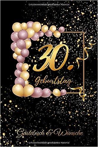 30 Geburtstag Gästebuch Glückwünsche Zum Ausfüllen 30