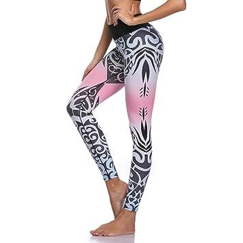 WHFDDDK Pantalones de Yoga para Mujer Leggings Deportivos ...