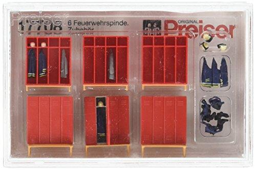 Parts Ho Scale - Preiser 17708 Firemen's Lockers & Accessories 6 Lockers HO Scale Part Scenery Set