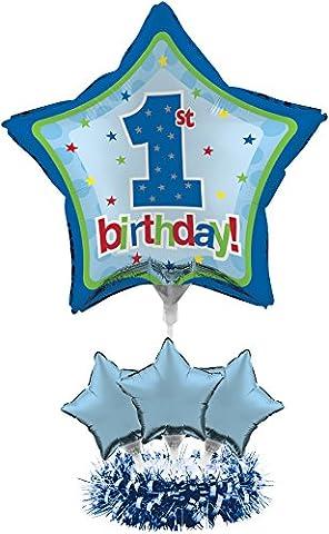 Creative Converting Balloon Centerpiece Kit, 1st Birthday Boy - 1st Birthday Balloon