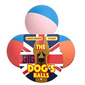 The Dog's Rubber Balls - Premium Tough & Bouncy Rubber Dog Balls, 3 Sizes, Quality Strong Dog Toy for Fetch, Puppy Training, Exercise & Play