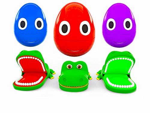 (Learning colors together with smart Eggs - jolly crocodiles)