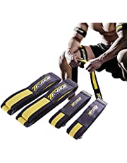 TAVIEW Occlusion Bands,4 Pack (2 Bicep Bands,2 Leg Bands), Comfortable Elastic Bands for Blood Flow Restriction Training and Fast Muscle Growth Without Lifting Heavy Weights…