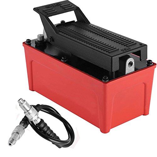 Happybuy 10000 PSI Capacity Hydraulic Foot Pump 1/2 Gallon 98 Cubic AirHydraulicPump Air Actuated Treadle Hydraulic Pump Aluminum Shell Single Acting Auto Repair Tool (Single Acting)