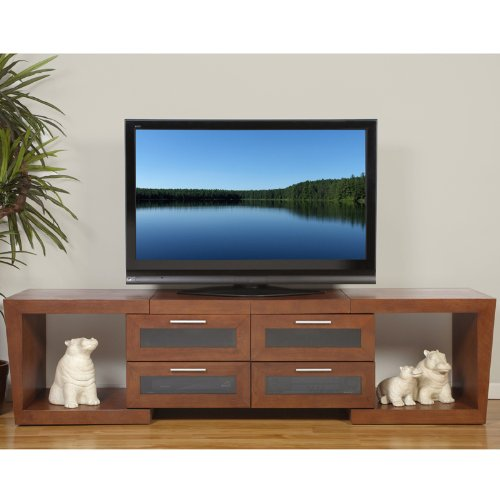 (Plateau Valencia 5187 W Wood Expandable TV Stand, 51-Inch to 87-Inch, Walnut Finish)