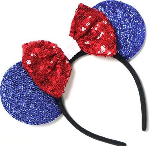 Patriotic Ears, America Mickey Ears, Disney Americana Minnie Ears, Disney Stars and Strips Ears, Disney July Fourth Headband