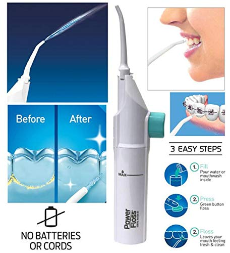 Orland Floss Dental Water Jet Portable Oral Irrigator Water Tooth Cleaner Flosser (White)