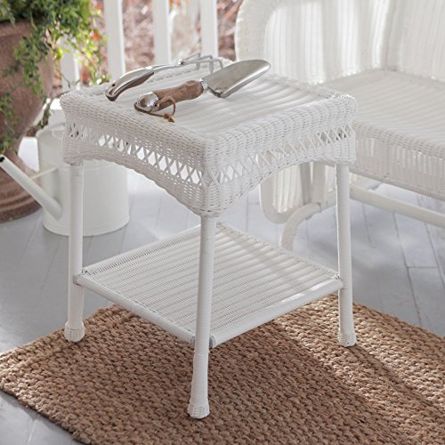 Coral Coast Casco Bay Resin Wicker Side Table