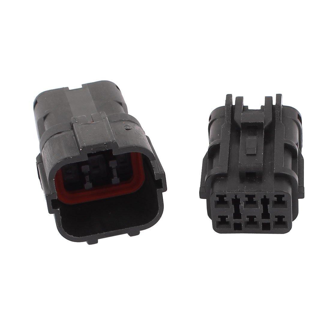 Amazon.com: eDealMax 2 Ajuste del Tiempo sellada Conector Prueba Kit 1.8mm Terminal de calefacción adaptador Para el coche automático Negro: Car Electronics